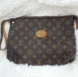 Authentic Vintage Louis Vuitton makeup bag/clutch